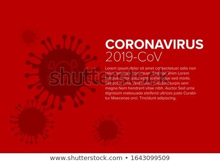 Aviador boletim informativo cobrir modelo coronavírus informação Foto stock © orson