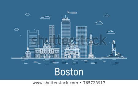 Бостон Skyline синий зданий Сток-фото © ShustrikS