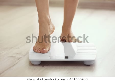 Weightloss Weight Scale In Bathroom Stock photo © AndreyPopov