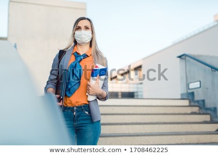Lonely student on college campus closed due to covid-19 Stock photo © Kzenon
