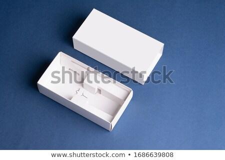 Kék csomagolás sablon terv különböző étel Stock fotó © butenkow