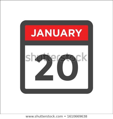 Simples preto calendário ícone 20 data Foto stock © evgeny89