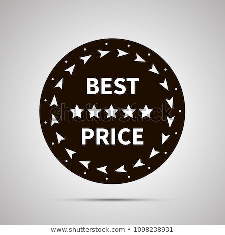 Mejor precio placa simple negro icono sombra Foto stock © evgeny89