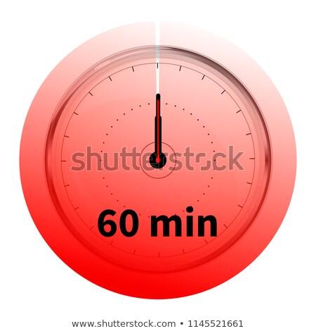 Realista sessenta cronômetro branco Foto stock © evgeny89