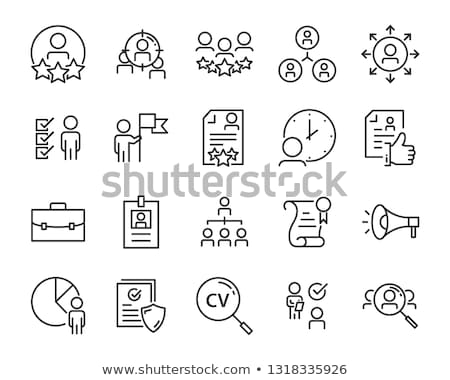 Recruitment And Research Employee Icons Set Vector Stock photo © pikepicture