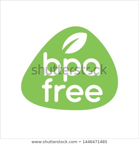 Libre garantizar etiqueta diseno hoja signo Foto stock © SArts