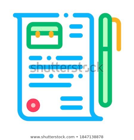 Job Vereinbarung Vertrag Stift Vektor Stock foto © pikepicture