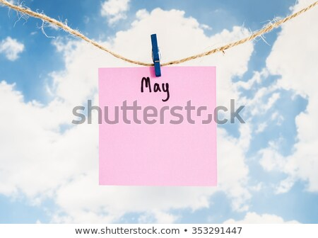 Memory, Colorful words hang on rope  stock photo © Ansonstock