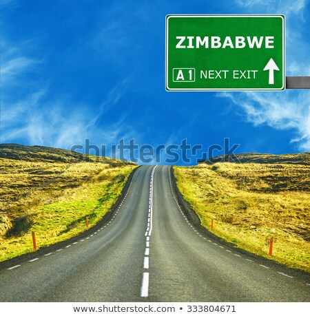 Zimbabwe Highway Sign Stock photo © kbuntu