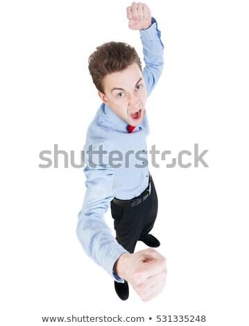 Utánzás verekedés arc fiú erő fiatalság Stock fotó © Paha_L