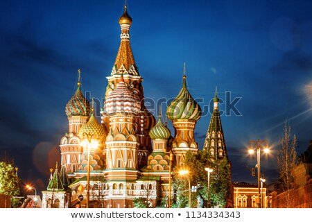domes of st.Basil cathedral in Moscow Stock photo © Paha_L