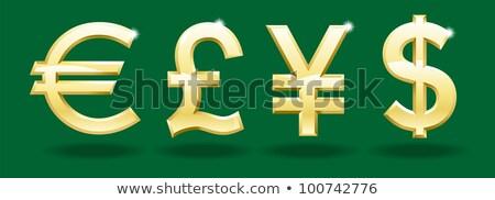 Arany valuta szett dollár font Euro Stock fotó © TheModernCanvas