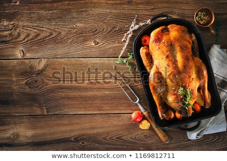 Stock photo: roasted duck