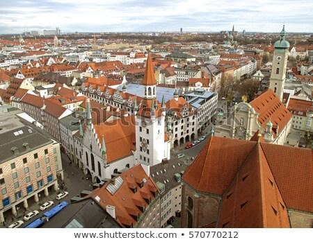 München Bild Kirche Deutschland Gebäude Stadt Stock foto © magann