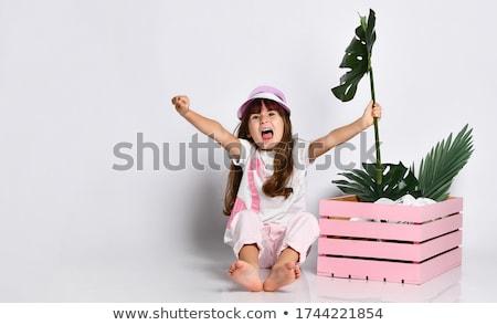 toddler in wooden box Stock photo © gewoldi