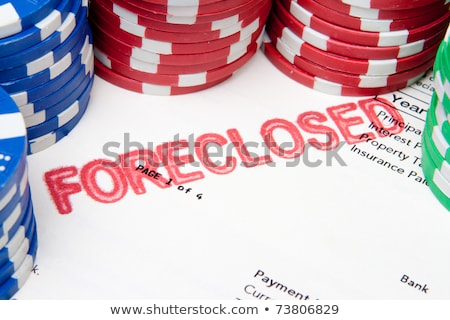 Fogadás ház póker zsetonok jelzálog felső otthon Stock fotó © Qingwa