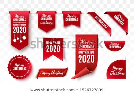 Rood · stickers · ingesteld · geïsoleerd · witte - stockfoto © barbaliss