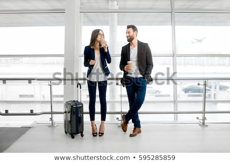 business couple in waiting area stock photo © photography33