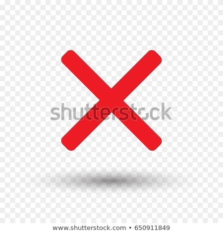 Cruz vermelha botão fundo vermelho branco Foto stock © almir1968