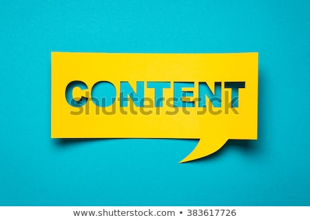 Stock photo: Content conception text