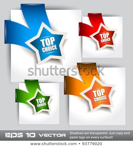 Papier style haut choix transparent Photo stock © DavidArts