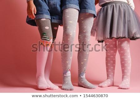 Moda meia-calça feminino fundo preto Foto stock © ssuaphoto