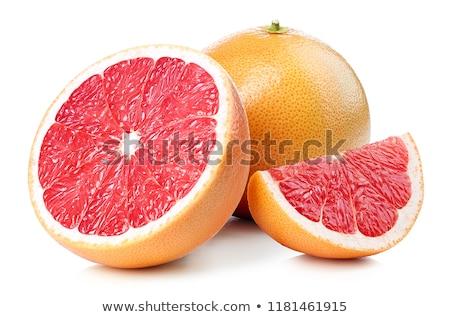 赤 グレープフルーツ 新鮮な スライス クローズアップ フルーツ ストックフォト © Gbuglok