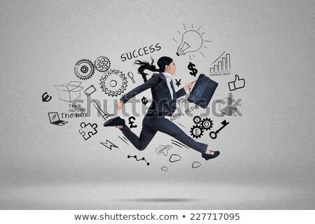 деловая · женщина · портфель · запустить · бизнеса · женщину · женщины - Сток-фото © photography33