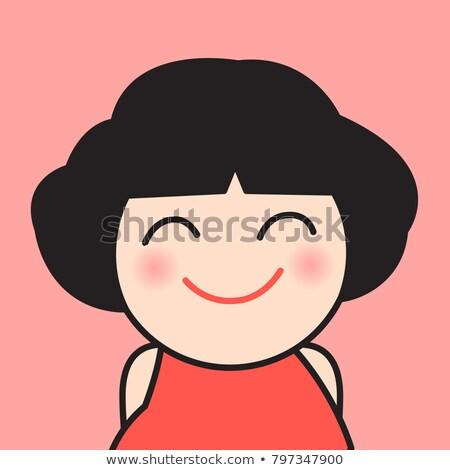 Primo piano donna sorridente ampia grin felice femminile Foto d'archivio © photography33