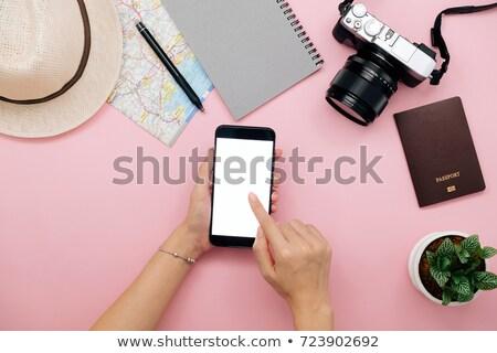 Woman using wood plane Stock photo © photography33