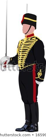 królewski · straży · miecz · Buckingham · Palace · Londyn · bezpieczeństwa - zdjęcia stock © leonido