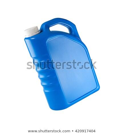 Machine olie geïsoleerd industrie fles Geel Stockfoto © ozaiachin