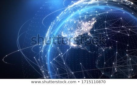 3D · rede · 3d · render · global · internet · servidor - foto stock © nasirkhan