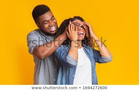 black man covering his eyes stock photo © photography33