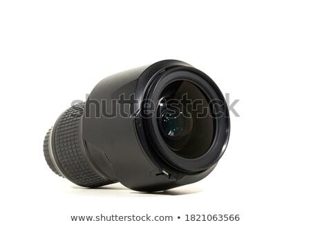 fotós · kamera · zoom · lencse · fekete · fiatal - stock fotó © feedough