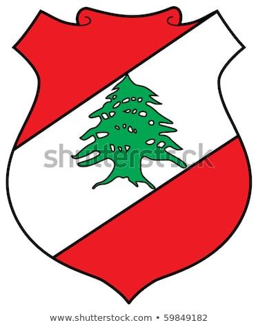 レバノン · フラグ · ボタン · ツリー · デザイン · 世界 - ストックフォト © perysty