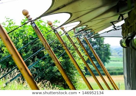 beş · çadır · beyaz · halat · ayarlamak · canlı - stok fotoğraf © klsbear