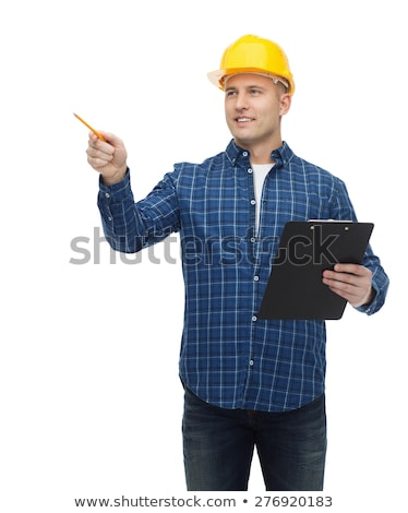 Engineer pointing to a clipboard Stock photo © photography33