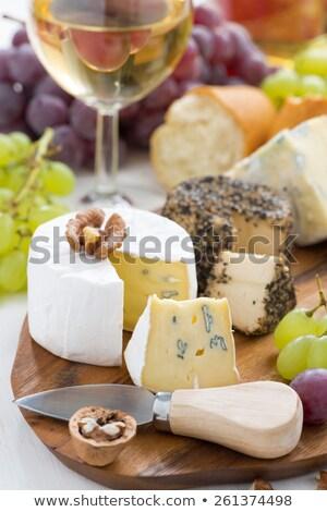bor · válogatás · sajt · étel · üveg · alkohol - stock fotó © M-studio