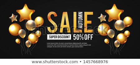 autumn sale in 3d leaves  Stock photo © marinini