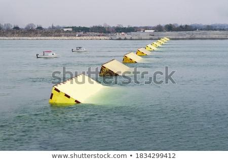 Magas víz Velence áradás tér fény Stock fotó © michey