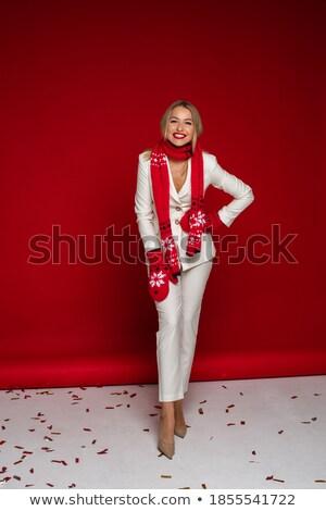 mode · blonde · vrouw · poseren · vergadering · studio - stockfoto © acidgrey