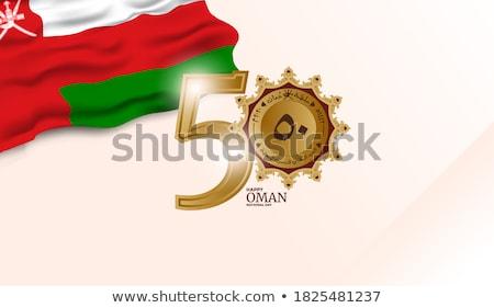 Оман карта флаг черный диаграммы рисунок Сток-фото © tshooter