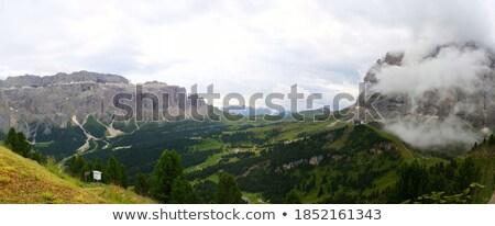 Sassolungo mount and Gardena pass Stock photo © Antonio-S