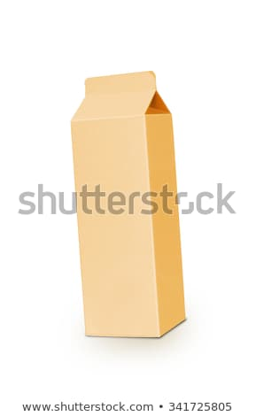 Yellow milk box per liter isolated on white Stock photo © shutswis