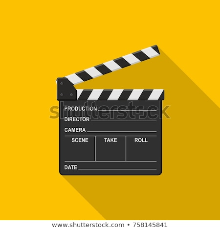 Blank Film slate or clapboard  Stock photo © Lightsource