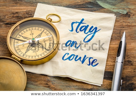 Ficar símbolo dilema controlar estratégico jornada Foto stock © Lightsource