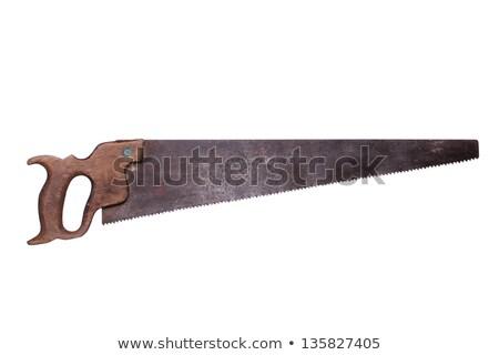 Oude zag houten behandelen bouw industrie Stockfoto © pterwort