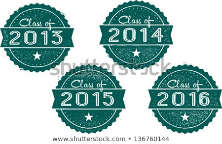 class of 2013 2014 2015 and 2016 stamps stock photo © squarelogo