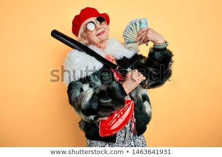 Mujer bate hombro bate de béisbol blanco Foto stock © wavebreak_media